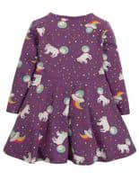 Frugi Amethyst Unicorn Sofia Skater Dress - GOTS certified organic clothing